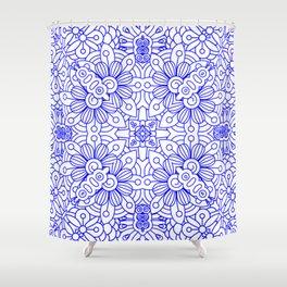 Mindful Mandala Pattern Tile MAPATI 124 Shower Curtain