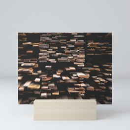 wooden board pattern texture Mini Art Print