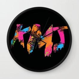 Iaia in Black Wall Clock
