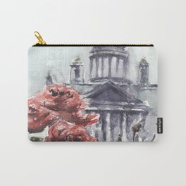 St. Isaac's Cathedral and Roses Carry-All Pouch