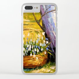 Basket of snowdrops Clear iPhone Case