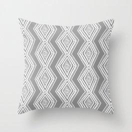 diamondback in gray Throw Pillow