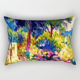 Henri Edmond Cross Flowered Terrace Rectangular Pillow