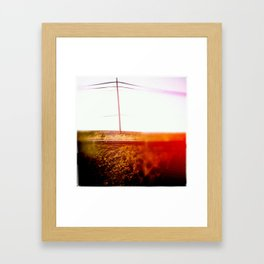 the red pole Framed Art Print