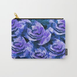 Bold Lavender Blue Roses Carry-All Pouch