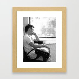 Man by The Window Framed Art Print