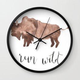 Run Wild Wall Clock