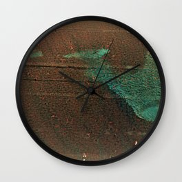 1x Brown Abstract ( Limited 01 / 50#) Wall Clock