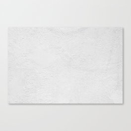 White Wall Texture (Black and White) Canvas Print