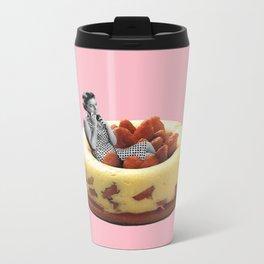 Strawberry Calling Metal Travel Mug