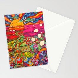 Psychadelic Illustration Stationery Cards