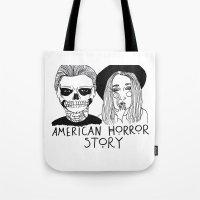 ahs Tote Bags featuring AHS by ☿ cactei ☿