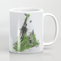 silent Mugs featuring Silent Decay by Hillary White