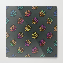DP038-3 rainbow flowers Metal Print