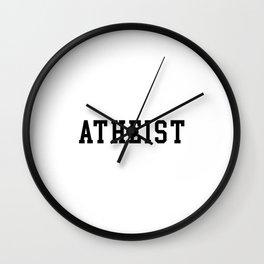 Atheist Anti Religion - Black Wall Clock
