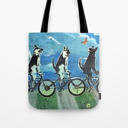 Five Doggos and a Cat Tote Bag