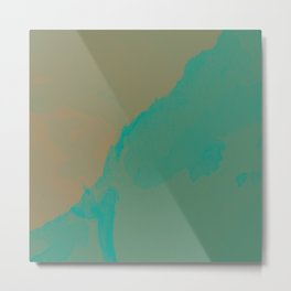 Beige and turquoise Metal Print