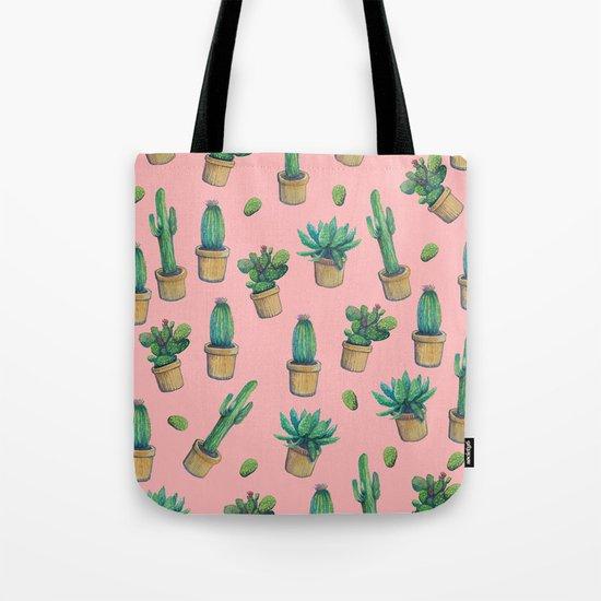 cactus pink water color Tote Bag