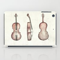 cello iPad Cases featuring Cello by Mike Koubou