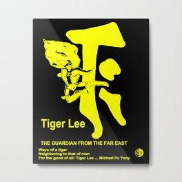 TIGER LEE ...black poster in yellow Metal Print