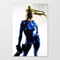 samus Canvas Prints featuring Samus by Pauline French