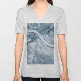 Cipollino Azzurro blue marble Unisex V-Neck