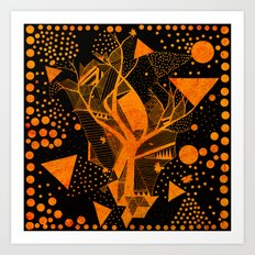 golden geometry Art Print