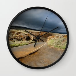 clouds rolling in Wall Clock