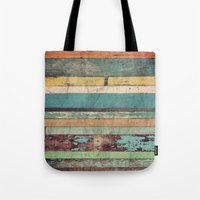 xbox Tote Bags featuring Wooden Vintage  by Patterns and Textures