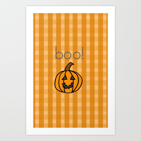 October, boo! Art Print