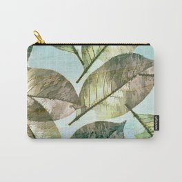 Vintage Leaf Abstract Carry-All Pouch