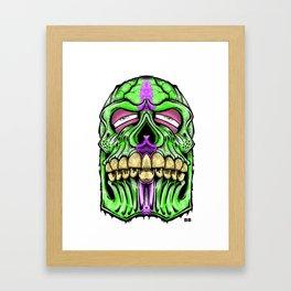 fat head skull Framed Art Print