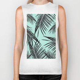 Black Palm Leaves Dream #2 #tropical #decor #art #society6 Biker Tank