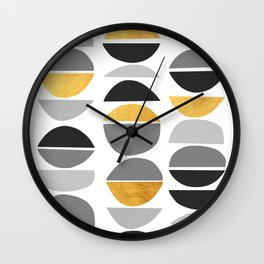 Modern pattern with gold IV Wall Clock