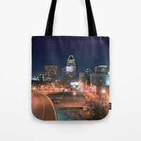 baltimore Tote Bags featuring Baltimore by Andrew Mangum