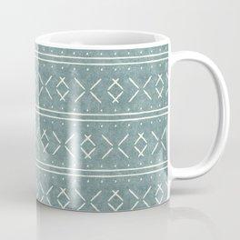 mud cloth stitch - dusty blue Coffee Mug