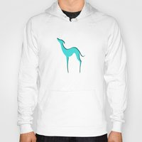 greyhound Hoodies featuring Greyhound by eDrawings38