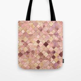 Quatrefoil Moroccan Pattern Pastel Onyx Marble Tote Bag