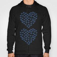 Hearts Heart x2 Navy Hoody