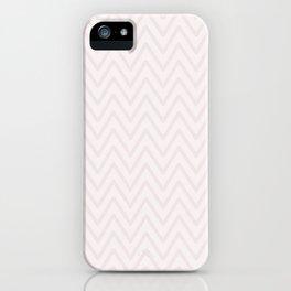 Mauve pink girly elegant geometrical chevron pattern iPhone Case