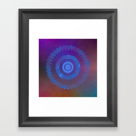 Technicolor Cosmos Blue Framed Art Print