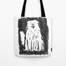 fluffy dog Tote Bag