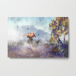 The Dragonfly Garden - Fantasy Artwork Metal Print