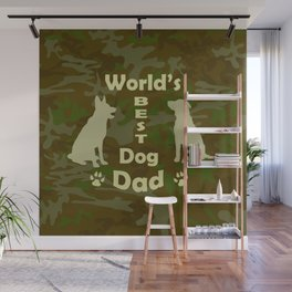 World's Best Dog Dad Wall Mural