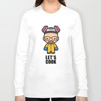 cook Long Sleeve T-shirts featuring Let's Cook by Papyroo