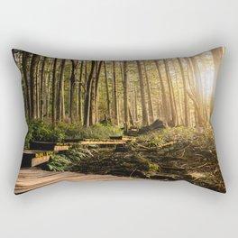 Forest Mountain Wanderlust Boardwalk - Nature Photography Rectangular Pillow