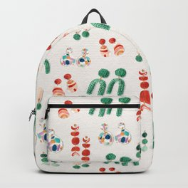 Fashion breeze_ Green & Clay palette_watercolor illustration Backpack