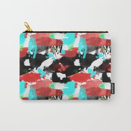 Turquoise & Red Mess Carry-All Pouch