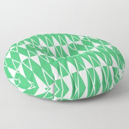 Mid Century Modern Diamond Pattern Green 234 Floor Pillow