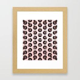 Black On Rose Gold Latex Spikes Framed Art Print